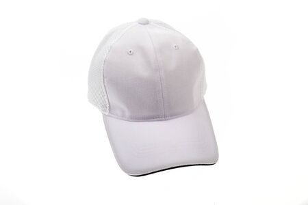 golf cap: White golf cap for man or woman on white background