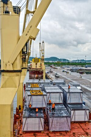 loading of cargo: Loading cargo into the ship