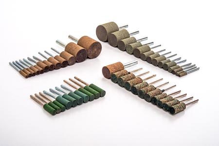 broach: Grinding and polishing stone drill bit set photo on white background