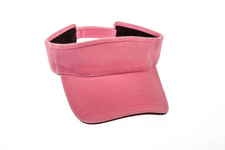 visor: Adult pink golf visor on white background