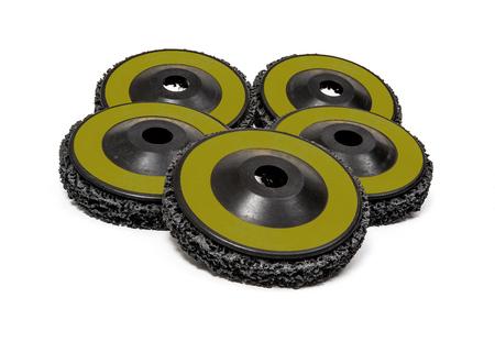 grounding: Grinding and polishing wheels on white background