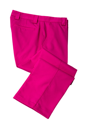 Pink pants, trousers for man or woman on white background