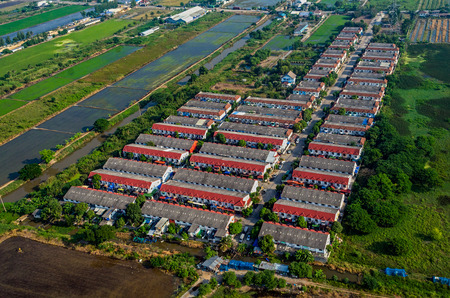 Farmland housing land development aerial photography