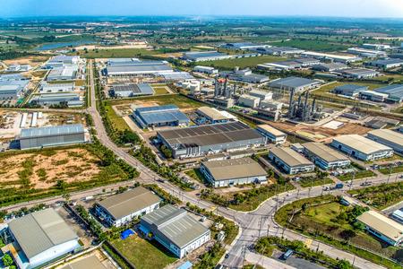 Industrial estate heavy industry manufacturer auto manufacturer in Thailand Zdjęcie Seryjne