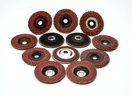 Flap Sanding Grinding Discs Polishing Wheels  on White Background