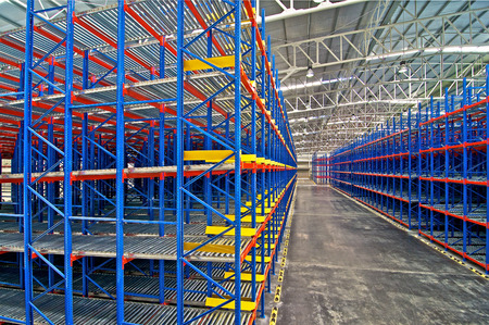 Warehouse  shelving  storage, metal, pallet racking system Zdjęcie Seryjne