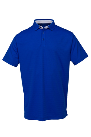 Blue golf tee shirt for man or woman on white background Zdjęcie Seryjne
