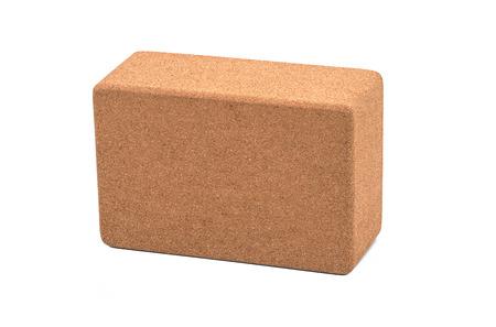 Yoga Cork Blocks Eco Friendly Isolated on White Background Zdjęcie Seryjne - 70770566