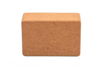 Cork Yoga Blocks Eco Friendly Isolated on White Background