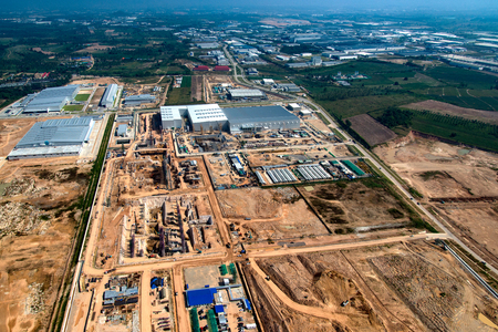 Industrial Estate Land Development Earthmoving and Construction, Thailand