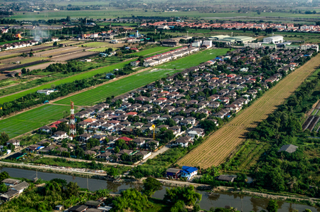 Housing and land development aerial photography in Asia Stock Photo