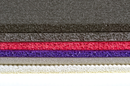 Polyethylene foam colourful foam sheets closed up shockproof multi type material Banque d'images