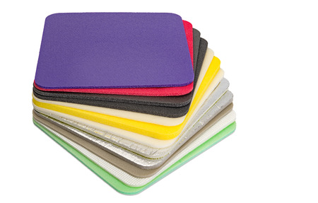 Polyethylene Foam Multi Colour and type Material Closed Up Stock Photo