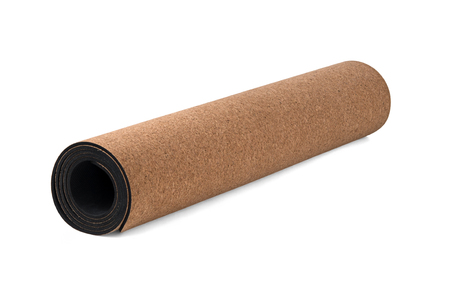 Cork Yoga Mat, Premium Eco Friendly Product on White Background