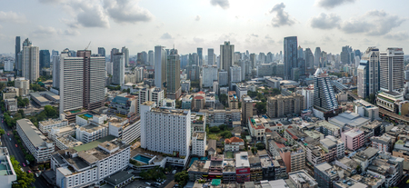 Panorama Bangkok City, Nana and Sukhumvit Road, Aerial Photography