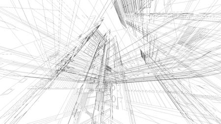 3 D ワイヤー フレーム領域を抽象化します。