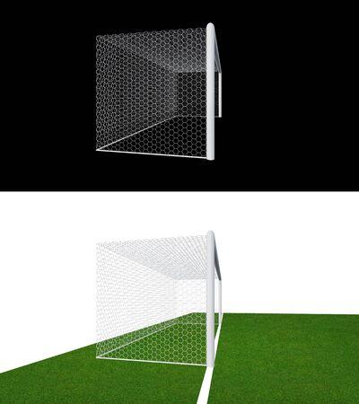 Calcio Palo e rete di calcio. Calcio obiettivo o porta di calcio per partita di calcio lo sport.