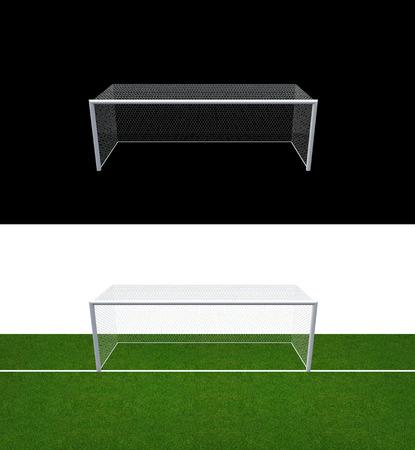 Calcio Palo della porta e obiettivo netto di calcio Calcio o porta di calcio per partita di calcio lo sport.