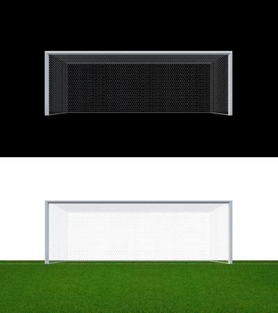 soccer net: Soccer goal post and soccer net  . Soccer goal or football goal for soccer game sport.