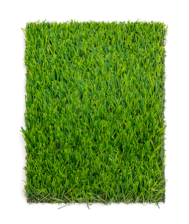 pasto sintetico: Grass mat isolated on white background. Artificial turf tile background.