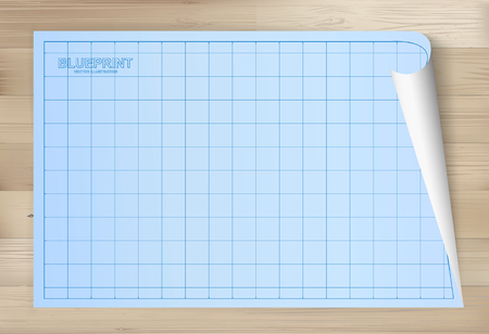 Blueprint blanco cuadrcula arquitectura ilustraciones vectoriales blueprint paper background for architectural drawing on wooden texture background vector illustration malvernweather Choice Image