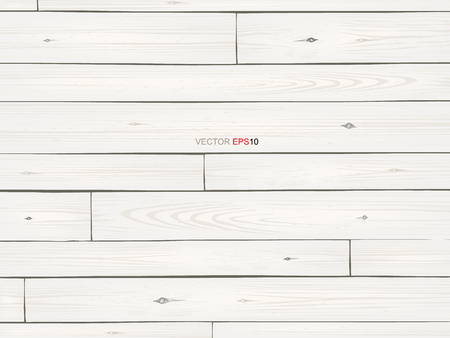 White wood texture for background. Vector illustration.