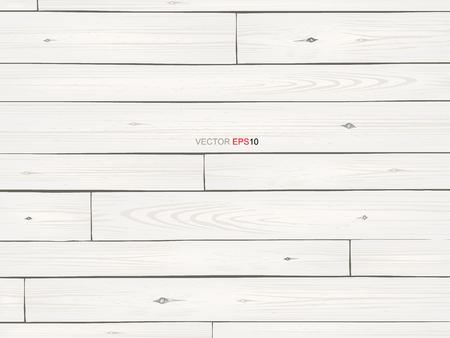 Witte houten textuur voor achtergrond. Vector illustratie.