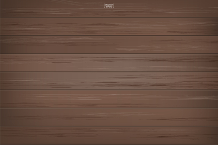 Dark wood pattern and texture for background. Vector illustration. Ilustracja