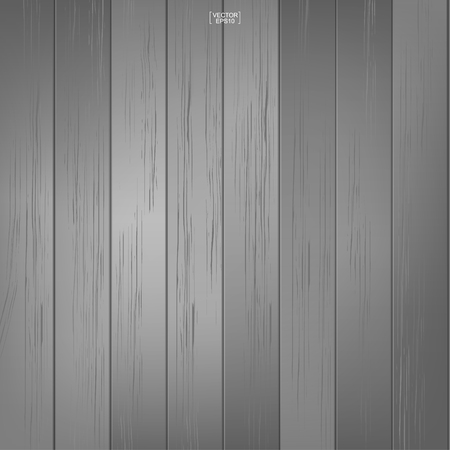 Gray wood pattern and texture for background. Vector illustration.