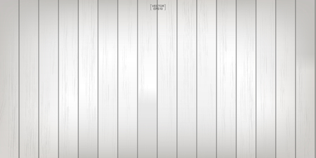 White wood pattern and texture for background. Vector illustration.  イラスト・ベクター素材