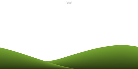Green grass hill background isolated on white. Vector illustration. 일러스트