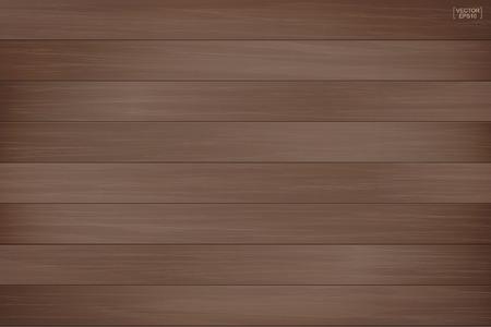 Bruin houten patroon en textuur voor achtergrond. Vector illustratie.