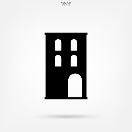 Building icon. Abstract architectural sign and symbol. Vector illustration.