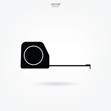 Tape measure icon. Craftsman tool sign and symbol. Vector illustration.