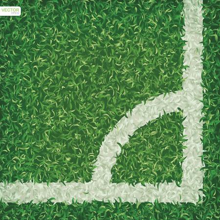Soccer football field background with corner line area. Vector illustration. Illustration