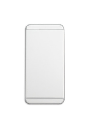 Back of smart phone isolated on white background with clipping path.