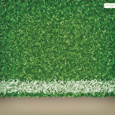 Soccer field or football field pattern and texture for background. Vector illustration.