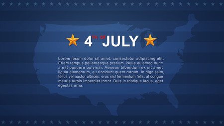 4th of July background for USA(United States of America) Independence Day. Vector illustration. Illustration