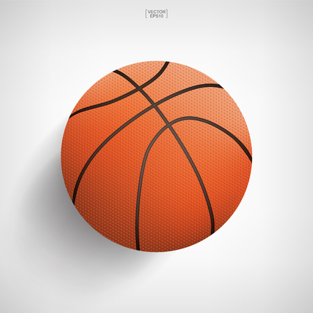 Basketball ball on white background. Vector illustration. 向量圖像