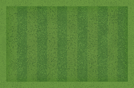 Green grass pattern and texture for sport and recreation background. Grass court background for soccer football. Vector illustration. Stock Illustratie