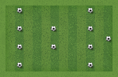 4-2-4 Soccer game tactic. Layout position for coach. Vector illustration. Illustration