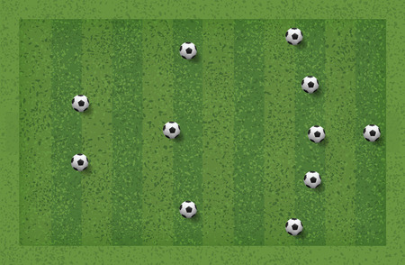 5-3-2 Soccer game tactic. Layout position for coach. Vector illustration. Illustration