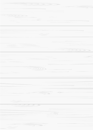 White wood pattern and texture for background. Vector illustration. Ilustração