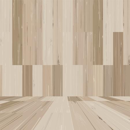 Empty wooden room space for background. Vector illustration. Standard-Bild - 110406490