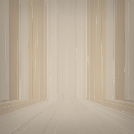 Empty wooden room space for background. Vector illustration. Standard-Bild - 110406503
