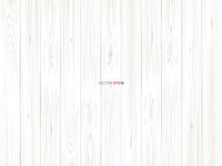 Patrón de madera blanca y textura de fondo. Ilustración vectorial