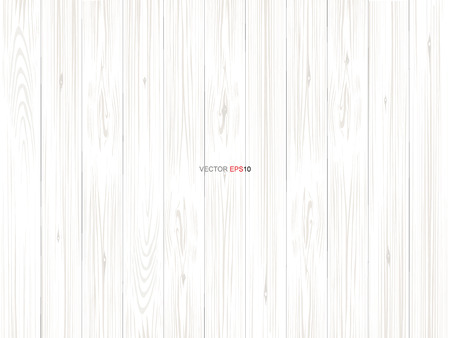 White wood pattern and texture for background. Vector illustration. Stock Illustratie