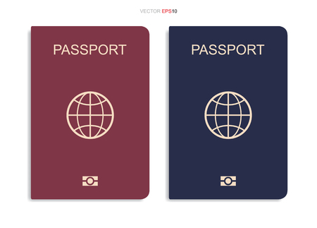 Passport isolated on white background. Vector illustration.