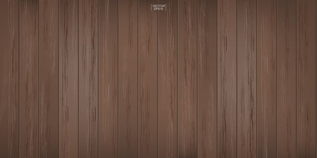 Brown wood pattern and texture for background. Vector illustration.
