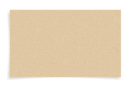 Brown paper texture on white background. Vector illustration.
